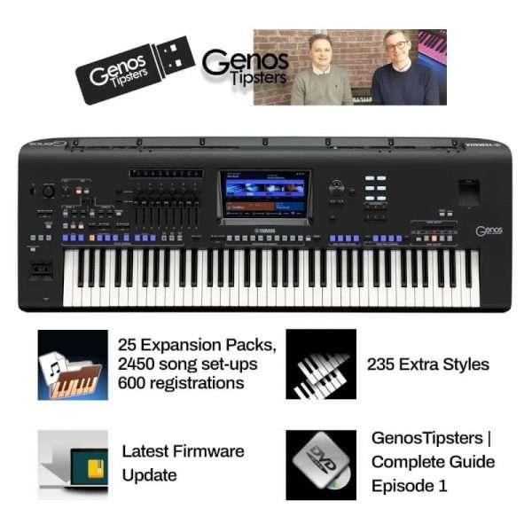 Used Yamaha Genos & Speakers PLUS Exclusive Bonus USB Content (fully loaded)