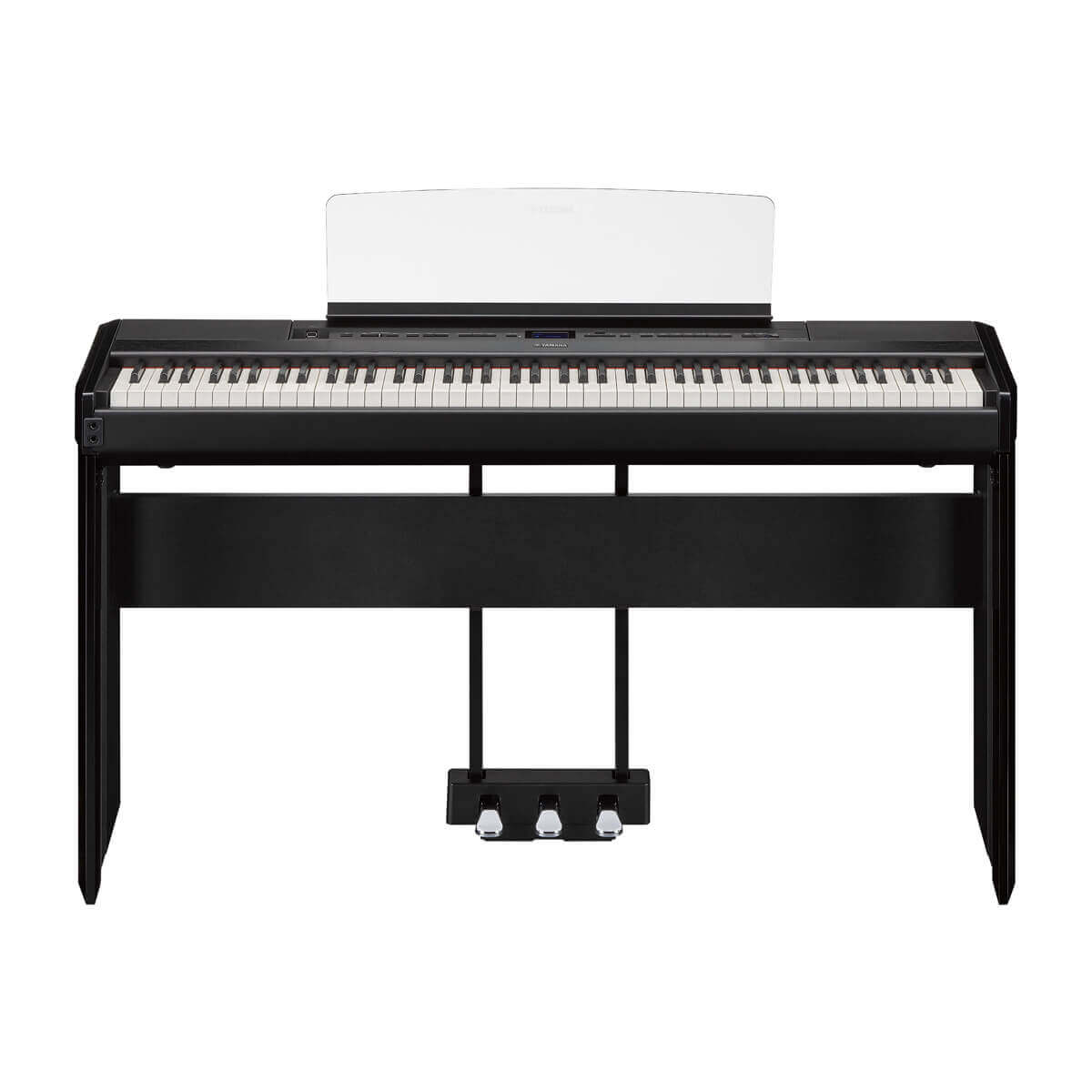 Yamaha P515B with L515 Stand and LP1 Pedals in Black