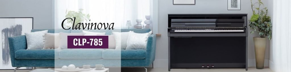 A Yamaha CLP785 electric piano in a home setting