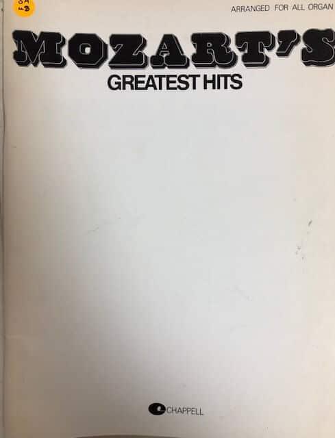 Mozarts's Greatest Hits - All Organ