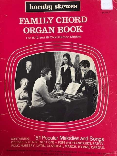 Family Chord Organ Book for 8,12 and 18 Chord Button Models - Book V