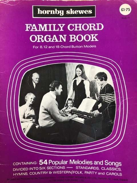 Family Chord Organ Book for 8,12 and 18 Chord Button Models - Book III