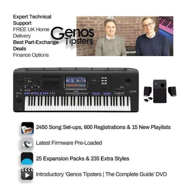 Yamaha Genos 76 Key & Yamaha GNS MS01 Speakers