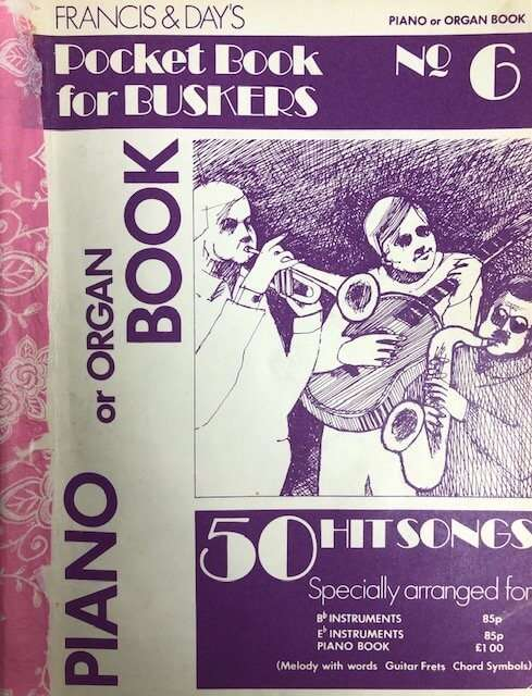 Pocket Book for Buskers No. 6 - Piano/Organ/Guitar