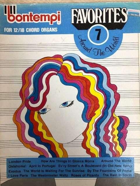 Bontempi Favourites 7 Around the World - for 12/18 Chord Organ