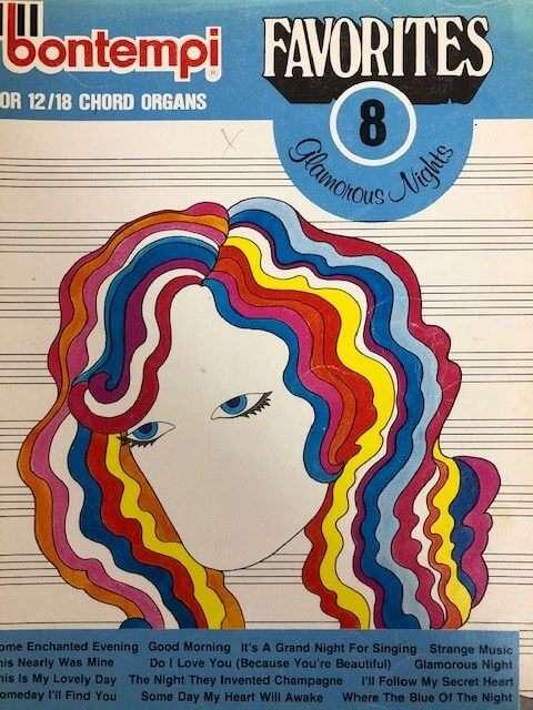 Bontempi Favourites 8 Glamorous Nights - for 12/18 Chord Organ
