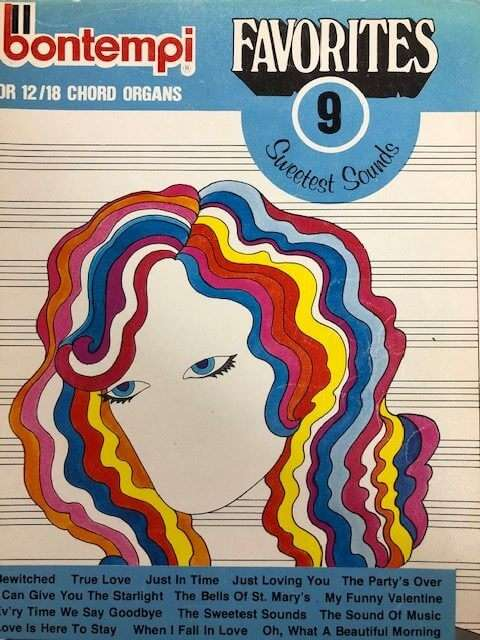 Bontempi Favourites 9 Sweetest Sounds - for 12/18 Chord Organ