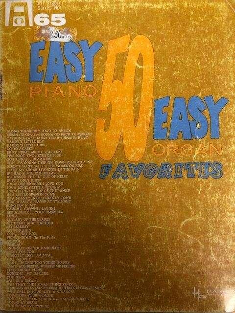 50 Easy Favourites  - Piano/Organ