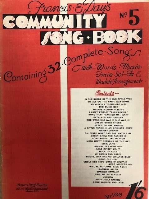 Francis & Day Community Songbook - Piano/Vocal/Ukulele
