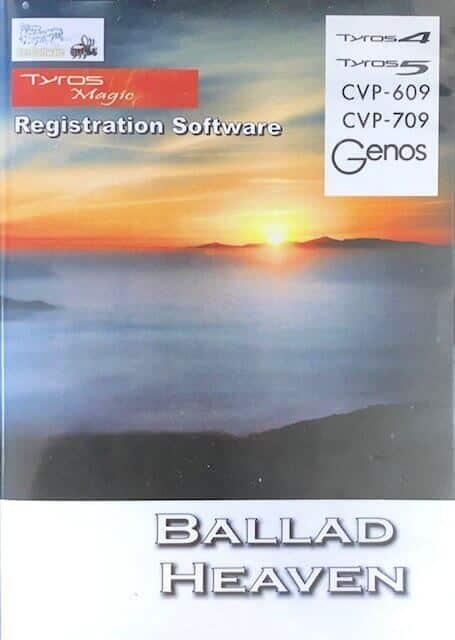 Ballad Heaven Registrations USB for Yamaha Genos, CVP709/609, Tyros 5/4 - Bee Software