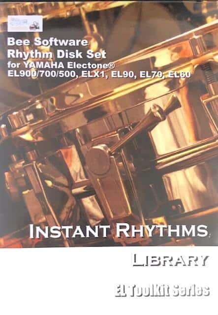 Instant Rhythms Disks for Yamaha Electone EL900/700/500, ELX1, EL90/70/60 - Bee Software