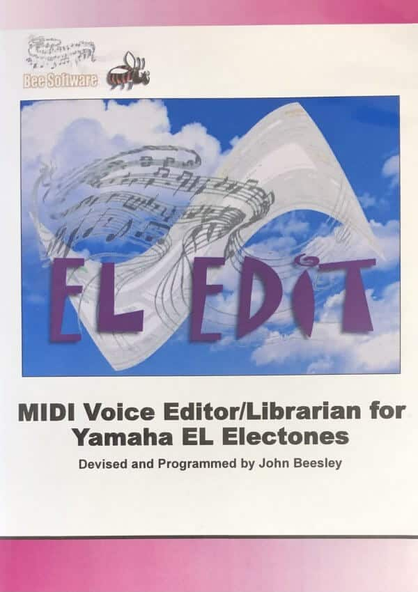 EL Edit - USB Midi Voice Editor/Librarian for Yamaha EL Electones - Bee Software