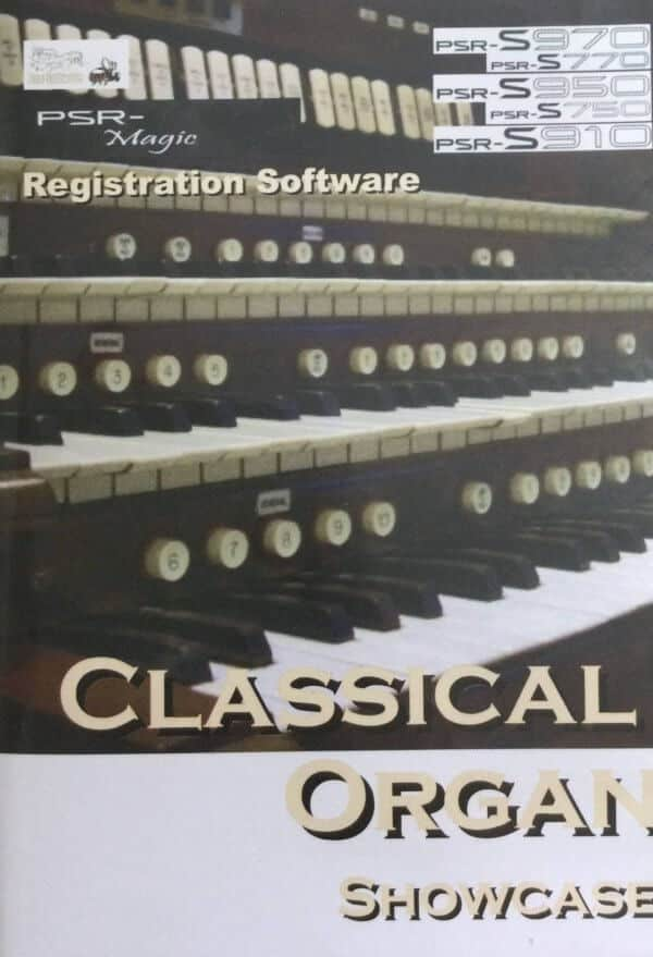 Classical Organ Showcase Registrations USB for Yamaha PSR S970/S770/S950/S750/S910 - Bee Software (Copy)