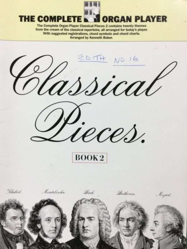 The Complete Organ Player - Classical Pieces Book 2