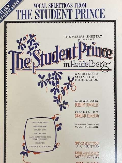 Vocal Selections From The Student Prince - Piano/Vocal